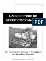L'Agriculture de destruction massive