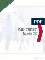 Investor Presentation - December 2012