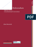 After the Referendum Options For a Constitutional Convention by Alan Renwick