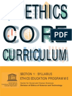 Bioethics Core Curriculum - Syllabus
