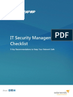 It Security Management Checklist