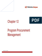 - Program Procurement Management