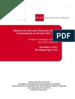 Impacto Da Educação Defasada Sobre a Criminalidade No Brasil 2001 a 20051