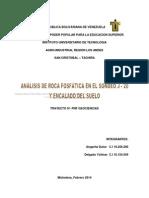 Trabajo de Analisis de Sondeo J-20 y Encalado