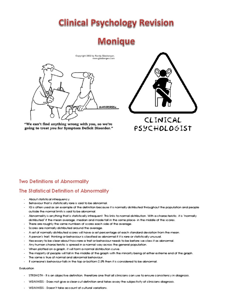 a2 clinical psychology revision notes edexcel | diagnostic and