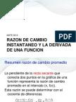 Mate 3013 Razon de Cambio Instantaneo y La Derivada