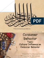 Cultural Influence on Consumer Behavior by M.hashaam