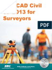 Autocad Civil3d 2013 for Surveyor
