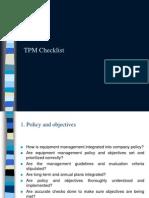 TPM Checklist