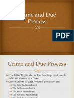 crime and due process