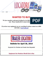 Wanted To Buy - April 30, 2014