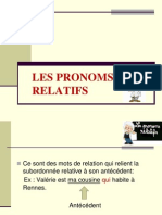 Les Pronoms Relatifs Ppt