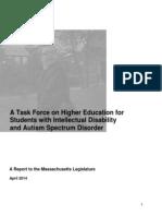 Higher Ed Task Force Report FINAL April 2014