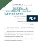 Jocul Muzical La Prescolar