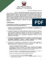 Número de consejerías regionales y aplicación de las cuotas electorales para las Elecciones Regionales 2014