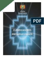 Clasificadores Presupuestarios 2014