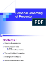 Personal Grooming of Presenter