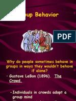 Group Behavior Spring 2006