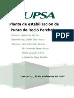 Planta de Estabilización de Punto de Rocío Percheles