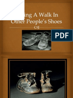 taking a walk in other peoples shoes