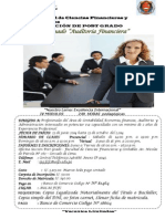 Afiche Diplomado Auditoria Financiera
