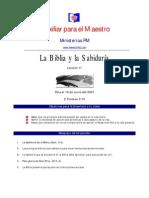 La Biblia y La Sabiduria