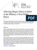 Military DREAM Act Policy Statement
