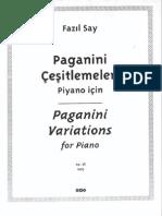 Fazil Say - Paganini Variations
