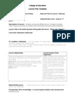 3-4 1 lesson plan- monday- science