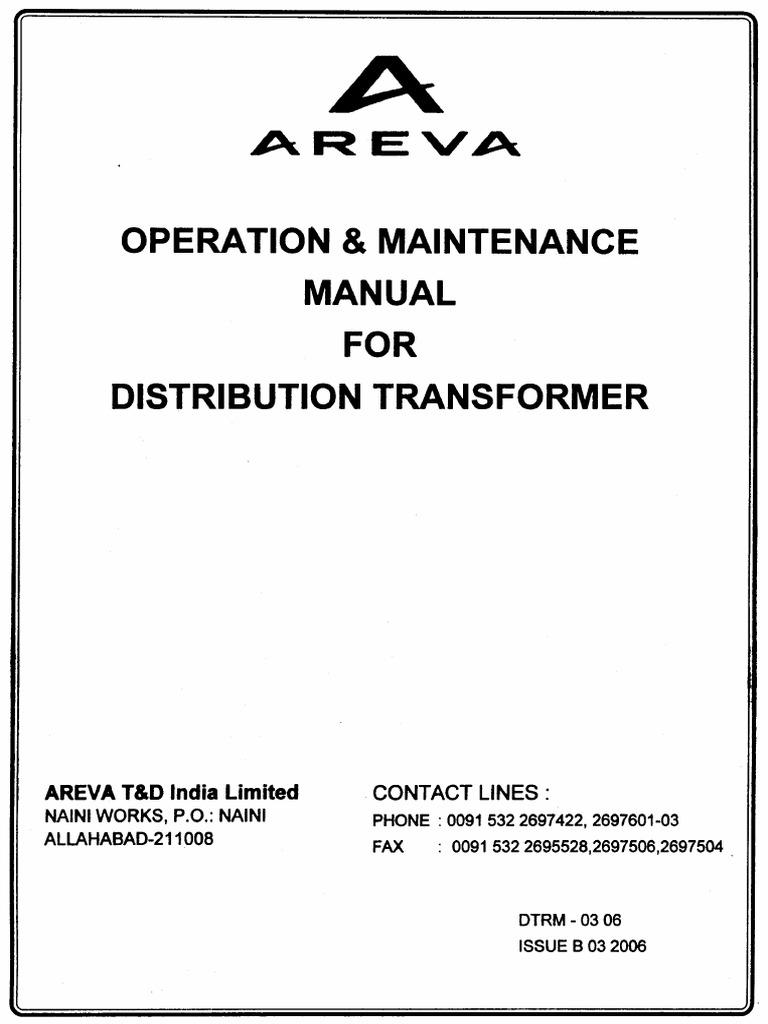 Areva Transformer Manual Transformer Relay