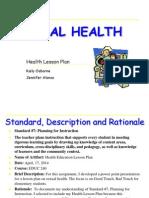alonso jennifer health lesson plan