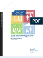 The 2009 MetLife Market Survey of Nursing Home, Assisted Living, Adult Day Services, and Home Care Costs