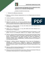 Resultados Del Segundo Periodo Del Segundo Año de Ejercicio de La LXII Legislatura en La Cámara de Diputados