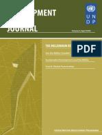 DevelopmentPolicy Journal MDGs Volume3