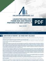 FNMA FHLMC Liquidation Valuation Analysis