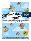 Summer Adventure Brochure 2014