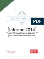 Informe Del Salario Mínimo Constitucional Ideal 2014 Ibero