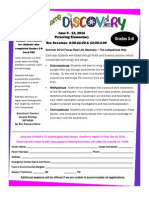 Camp Discovery Application for grades 5-8