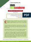 Ecosocialisme Premier Manifeste