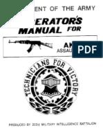 us army operators manual for ak47