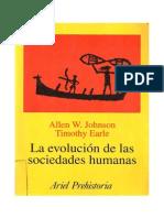 184727621 Johnson Earle La Evolucion de Las Sociedades Humanas 2003