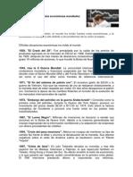 Cronología de Las Crisis Económicas Mundiales
