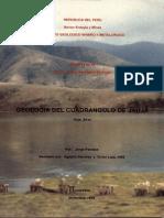 Geología - Cuadrangulo de Jauja %2824m%29%2C1994