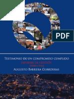 Informe de Gestión del Alcalde de Quito, Augusto Barrera, 2009-2014