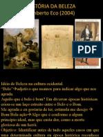 Historia Da Beleza - Umberto Eco Ppt