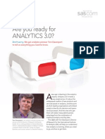 Are You Ready for Analytics 30