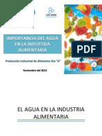 Importancia Del Agua en La Industria Alimentaria