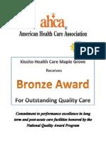 Bronze Award Flyer