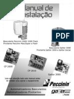 Manual Motor Portao Basculante Pivotante Peccinin CP 2000 CP 2010 Gatter 3000