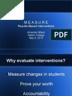 educ 665 measure